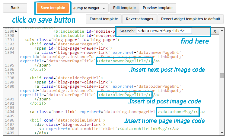 Change text with image tag