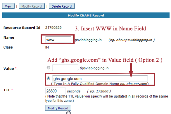 """How to Setup Blogger Custom Domain with BigRock? (Remove """".blogspot.com"""" From URL)"""