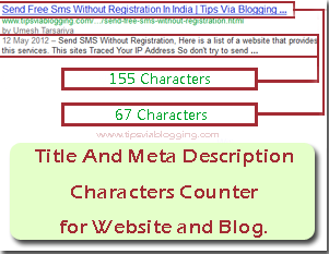 Title and meta description characters counter