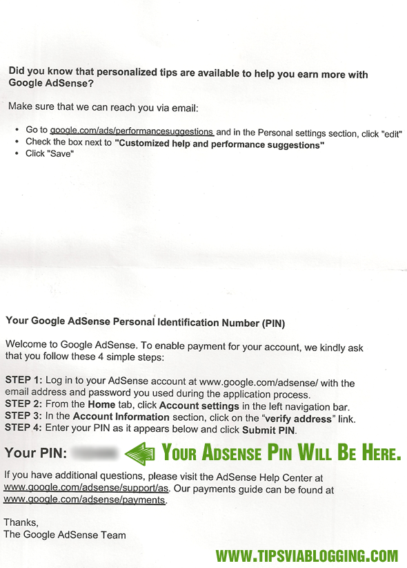 Just Received Google Adsense PIN For Address Verification After 4 Week.