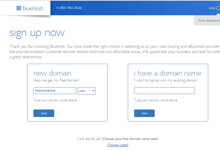 Register a domain name