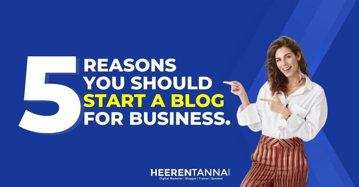 Start a blog for business