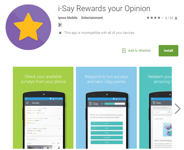 I say rewards your opinion app