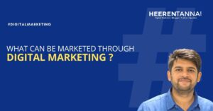 What can be marketed through digital marketing?